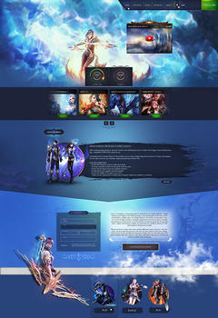 Aion Sky Game Website Template