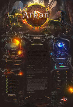 Arkan Mmo Fantasy Game Website Template