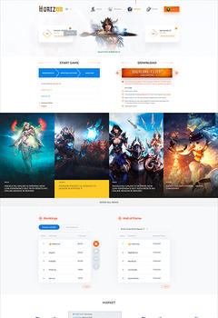 Mu Horizon Game Website Template