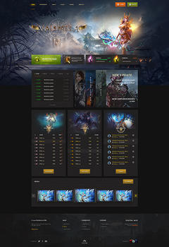 Mu Valhalla Game Website Template