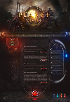 Planet Diablo Game Website Template