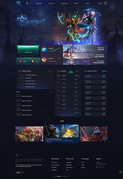 PW Rampart Game Website Template